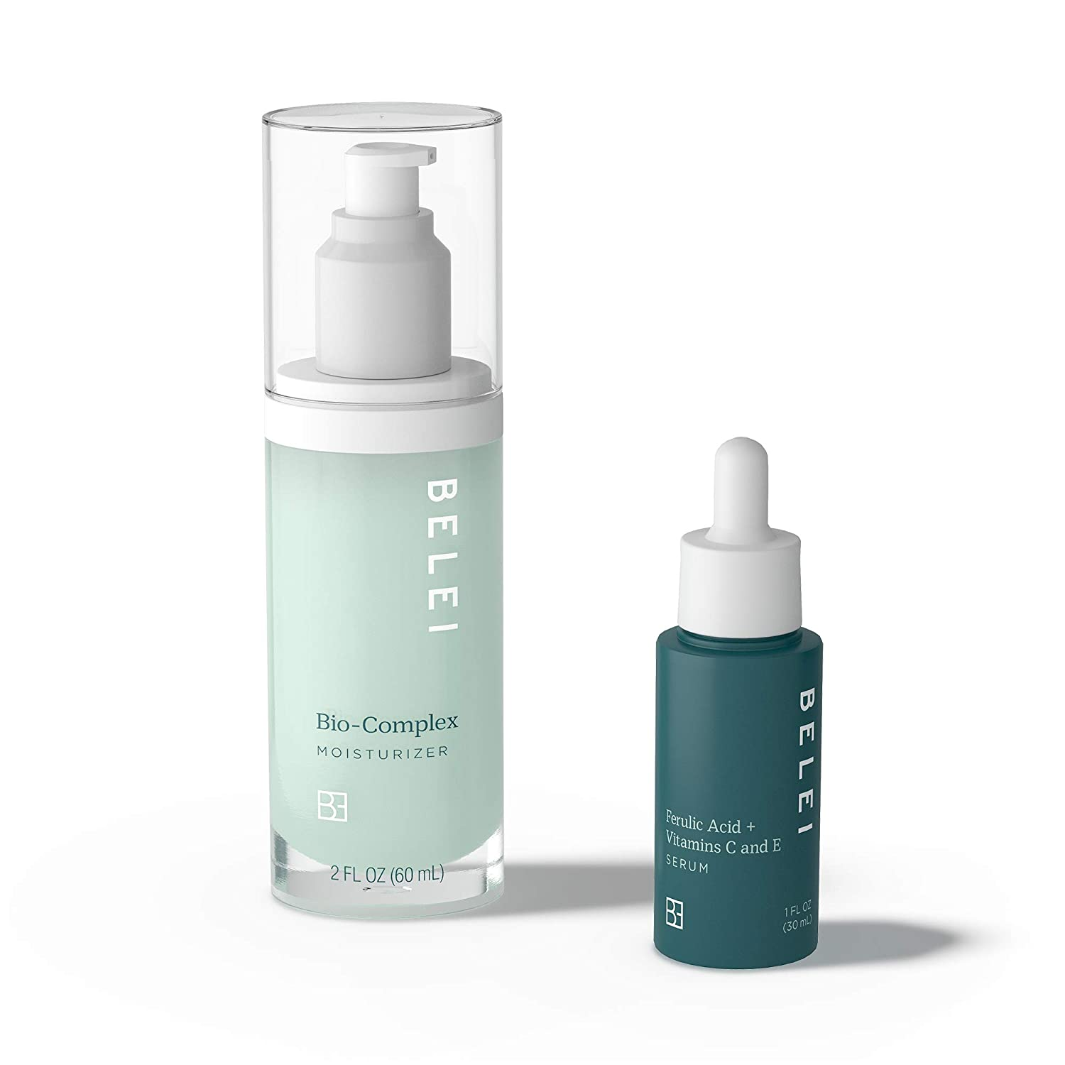 Belei, DAILY HYDRATING DUO, Bio-Complex Moisturizer & Ferulic Acid + Vitamins C and E Serum, Helps with Fine Lines, Hydration, and Uneven Skin Tone (Value at $75)