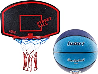 kimet Canasta de Baloncesto (con Pelota de Baloncesto–Canasta Baloncesto Juego manschafts Deportes Negro de Color Rojo