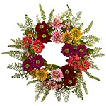 Nearly-Natural-4582-Mixed-Flower-Wreath