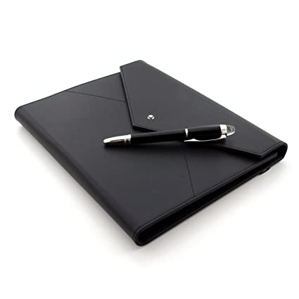 MONTBLANC Set con blocco note a righe e penna a sfera digitale Montblanc StarWalker in busta