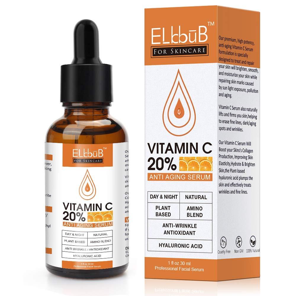 Premium 20% Vitamin C Serum For Face with Hyaluronic Acid Retinol &