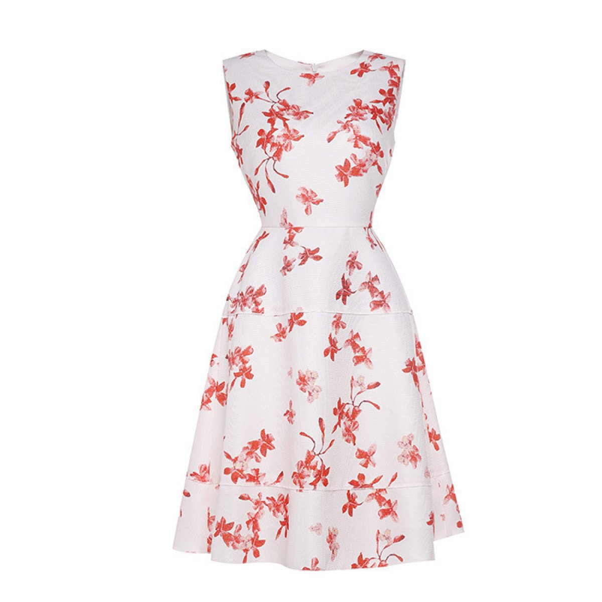 China Palaeowind Women Spring And Summer Large Waist Print Dress Code,White-L