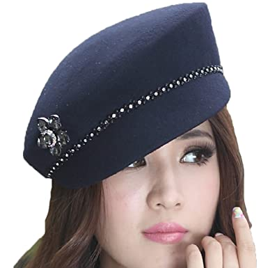 a4ac62a9ed7 Image Unavailable. Image not available for. Color  June s Young Fashion  Wool Hats for Women ...