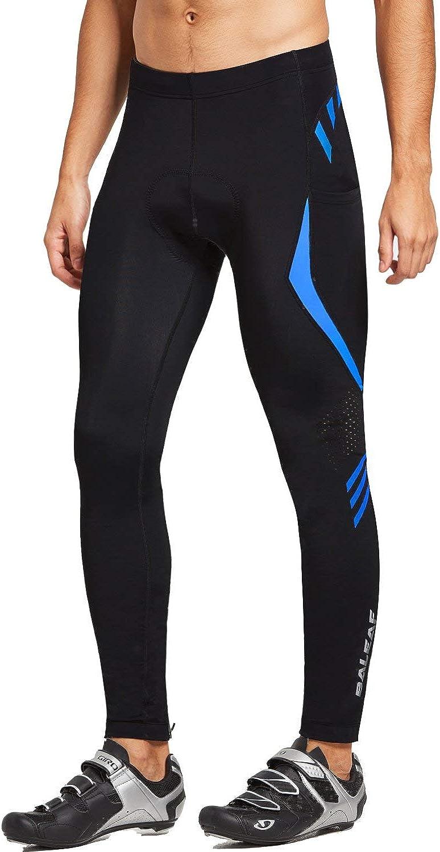 Pantalones de ciclismo para hombre BALEAF 4D acolchados para bicicleta con bolsillos UPF50+ mallas largas para ciclismo