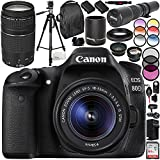 Canon EOS 80D DSLR Camera with 18-55mm and 75-300mm f/4-5.6 III Lens 20PC Accessory Bundle - International Version (No Warranty)
