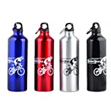 suyi New Fashion 750ml Sports Water Bottle Outdoor Cycling Camping Bicycle Bike Aluminum Alloy Water Bottle,Muti-color