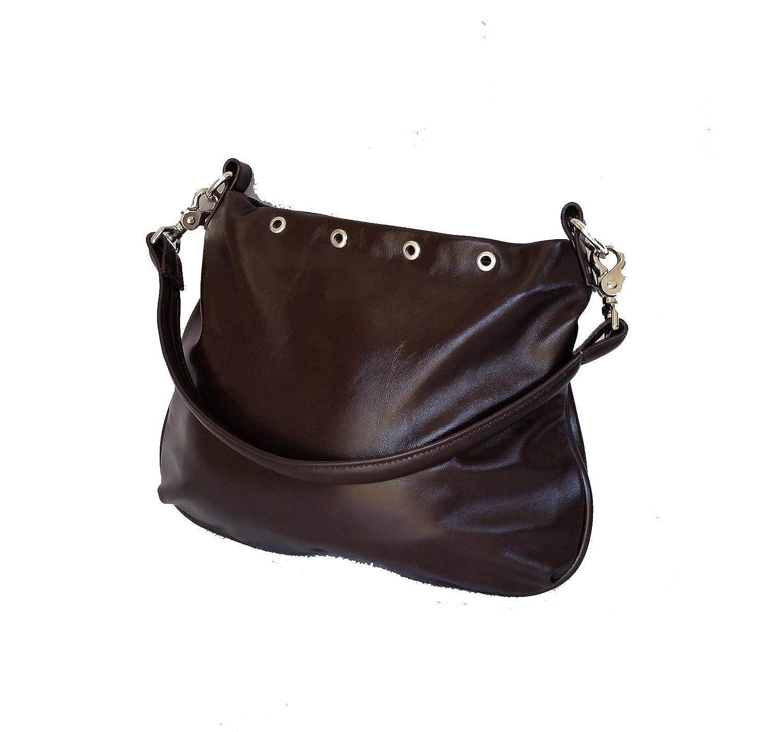 Fgalaze Dark Brown Leather Hobo Bag Everyday Purse Handmade Handbag Becky