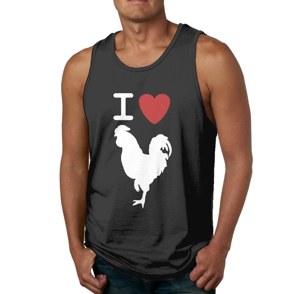 Men I Love Cock Retro Sleeveless Tank Tops Sports Shirt