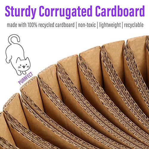 PrimePets Cat Stratching Corrugated Cardboard Scratcher Lounge (Sunflower Shape)