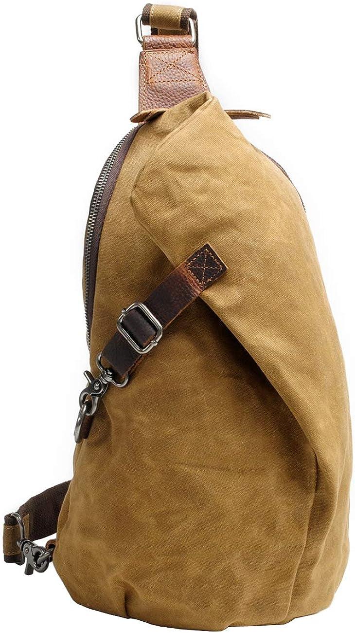 Waxed Sling Bag Crossbody...