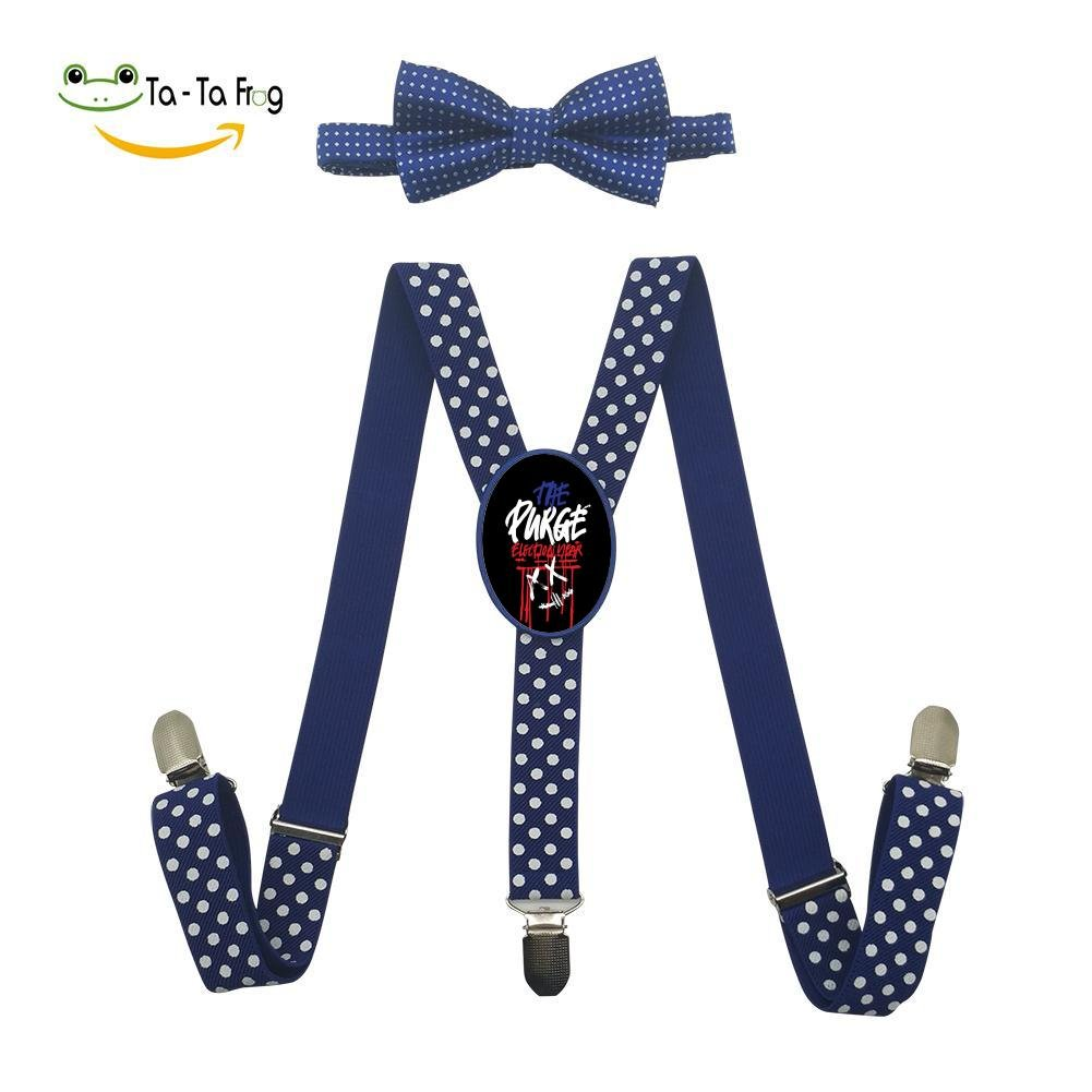 Xiacai The Purge Suspender&Bow Tie Set Adjustable Clip-On Y-Suspender Children