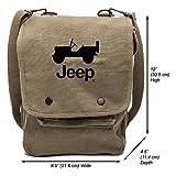 Grab A Smile JEEP CJ Canvas Crossbody Travel Map Bag Case, Olive & Black Review