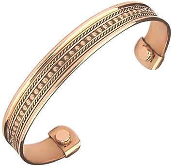 52f5d9398c7 Men's Women Pure Magnetic Copper Bracelet Arthritis Pain Relief Healing  Therapy Cuff Golf Bangle Mcb42