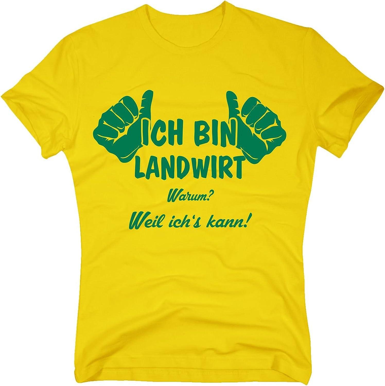 Camiseta de Ich Bin, Granjero Porque yo s Puede Gelb-Grün Small: Amazon.es: Ropa y accesorios