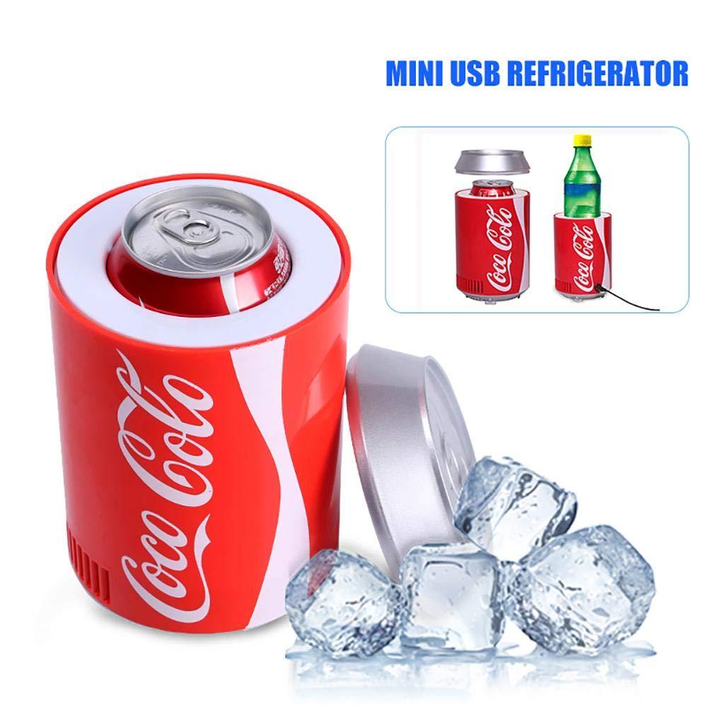 winnerruby Mini USB Fridge Portatile Bevanda Birra Drink Lattine di Raffreddamento Camping Coolbox Elettrico Dispositivo di Raffreddamento per Auto Outdoor casa e Ufficio