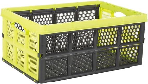 Plegable 31 litros caja de plástico, caja de almacenamiento solución casa almacén garaje: Amazon.es: Hogar