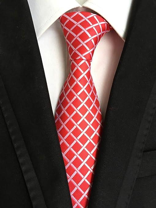 QEHWS Corbata Corbatas De Corbata para Hombre Corbatas A Cuadros ...