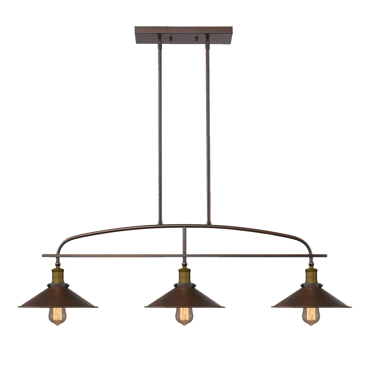 YOBO Lighting Antique Kitchen Island Pendant 3light Metal