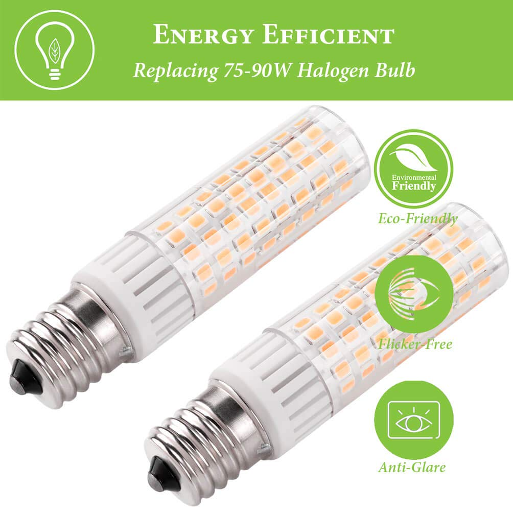 E17 LED Bulb Microwave Oven Light Dimmable 7.5W E17 7.5W Daylight 6000K 110V 120V Daylight 6000K Pack of 2 75W 100W Halogen Bulb Equivalent Intermediate Base