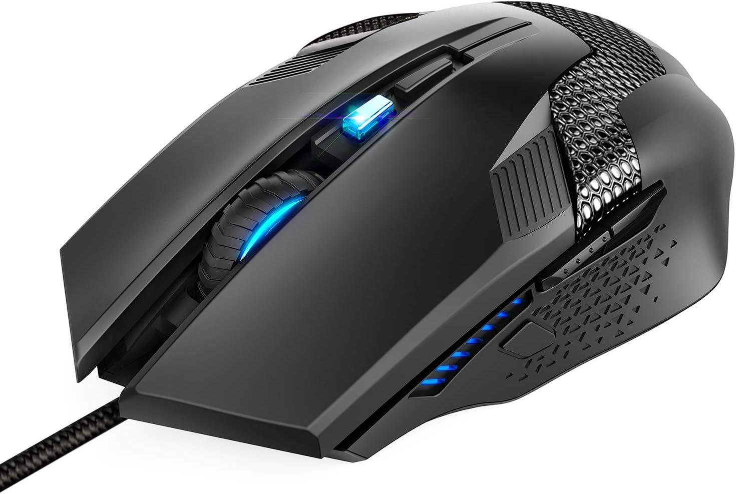 amazon com tecknet wired gaming mouse ergonomic optical usb gaming