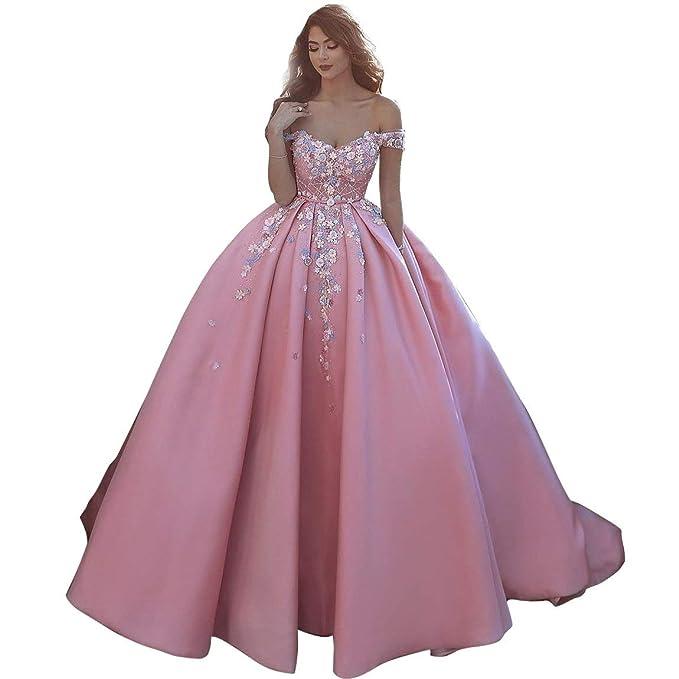 9d20212c2929 vipgowns Vestiti Abiti da Sera Cocktail Cerimonia Festa Danza Matrimonio  Gonna Abito da Sera Rosa  Amazon.it  Abbigliamento