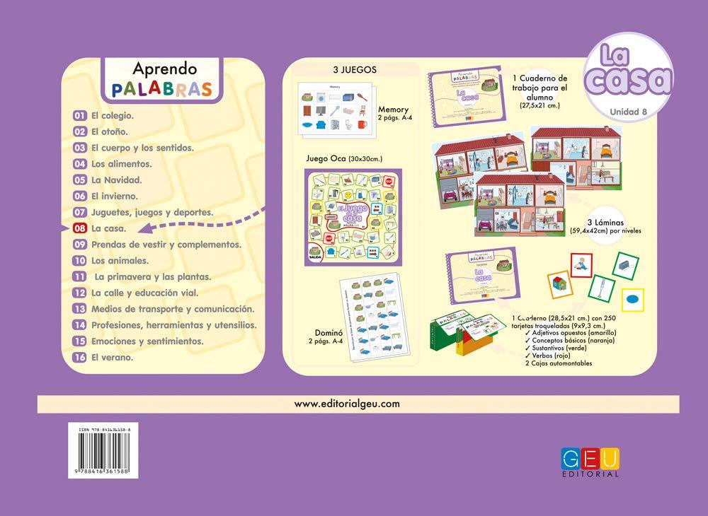 APRENDO PALABRAS 08 La Casa: Ana Cristina Álvarez y Cristina Morán: 9788416361588: Amazon.com: Books