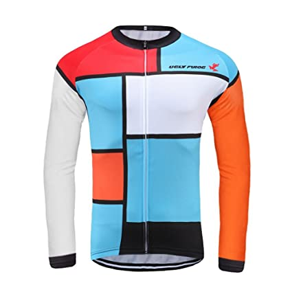 Image Unavailable. Image not available for. Color  Uglyfrog 2018 Winter    Autumn Style Men s Thermal Long Sleeve Cycling Jersey ... 07cde6d08