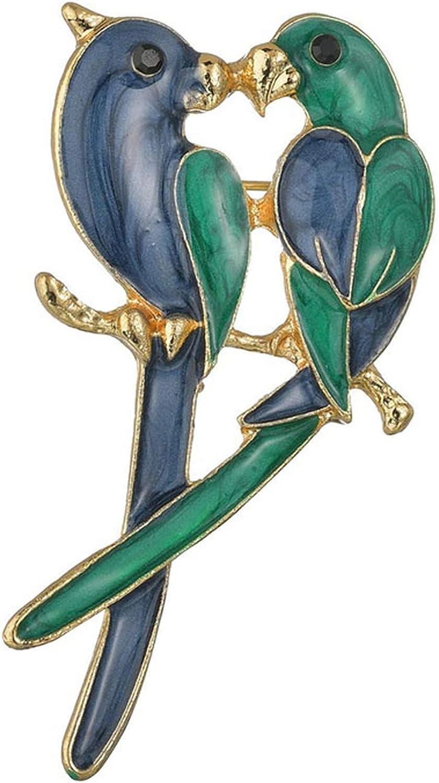 Rhinestone Colorful Enamel Oriole Bird Branch Brooch Pins Men WomenS Alloy Bird Brooches For Suits Dress Banquet Brooch