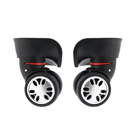 Homyl 2X Ruedas Giratorias Adecuado para Maletas, Valijas de Equipaje, Carros de Transporte -