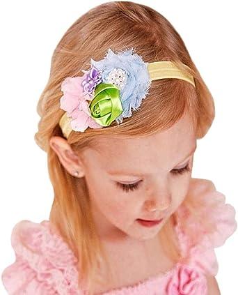 Baby Pink Bow /& Rosebud Soft Headband