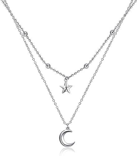 925 Silver Plated Cross Heart Moon Star Pendant Bracelet For Women