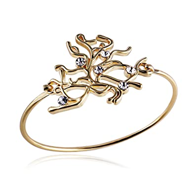 Amazon.com  RUXIANG Crystal Bangle Gold Womens Cuffs Neurons Cell Bangle  Tree Vines Roots Hook Bracelet  Toys   Games 4f8ccfec41