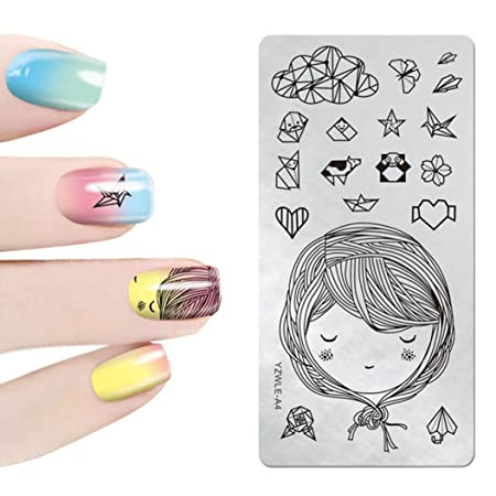 Xshuai 3d Nail Art Stamp Stamping Drawing Template Image Plates Diy