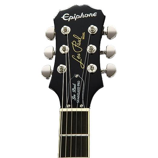 Epiphone Les Paul Standard plustop Pro solid-body Kit de Guitarra Eléctrica con chromacast Les Paul cuerpo estilo funda rígida y accesorios: Amazon.es: ...