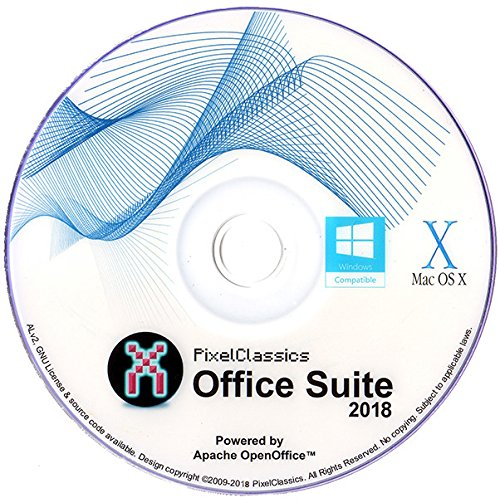 Open Office 2018 CD Home Student Professional and Business Microsoft Office Compatible Software Powered by Apache OpenOfficeTM for PC Windows 10 8.1 8 7 Vista XP & Mac OS X