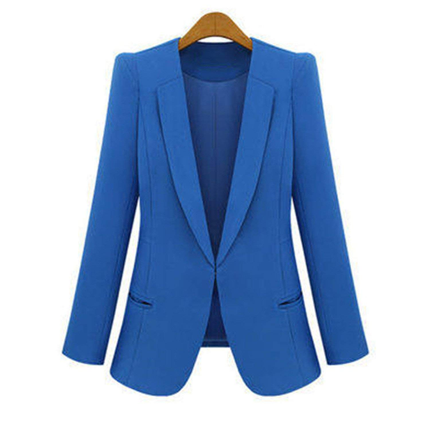 pink Red Cheryl Bull Fashion Women Long Sleeve Solid Leisure Western Style Suits Female Notched 4XL