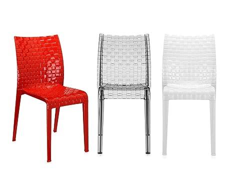Arredo Ufficio Kartell : Kartell ami ami sedia colore: nero lucido confezione da 2.: amazon