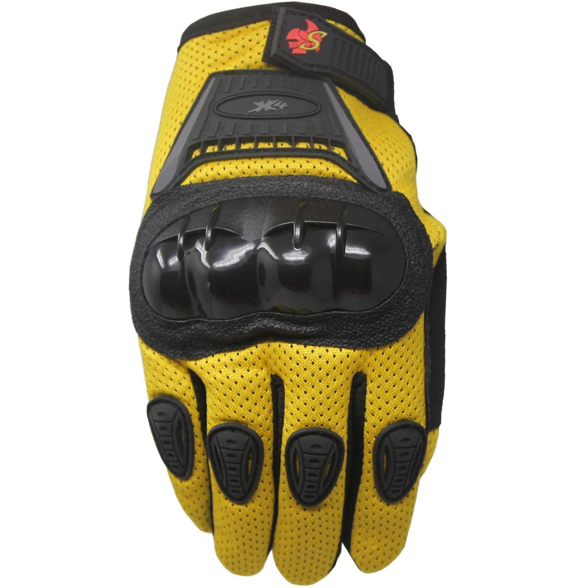 S, black//red Street Bike Full Finger Motorcycle Gloves 09
