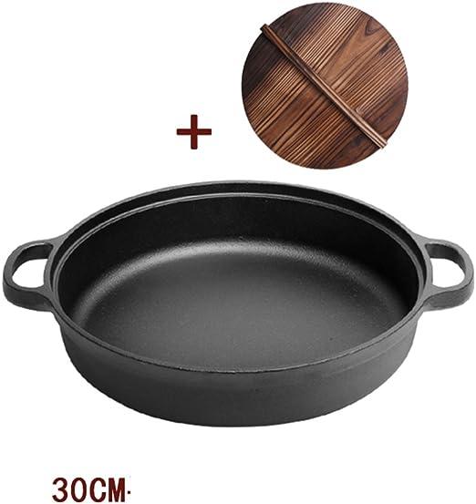LLW-Frying Pans Sartenes para Sartenes Sartén De Hierro Fundido ...
