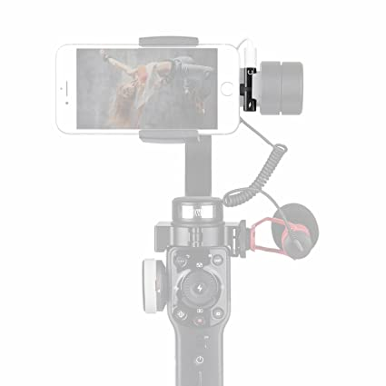 new product cb877 b349f HolaFoto 2in1 Adapter, Charge and Earpod Audio Adapter Attach Microphone to  Gimbal Such As Zhiyun Smooth Q 4 3 DJI Osmo Mobile 2 Feiyu SPG for iPhone  ...