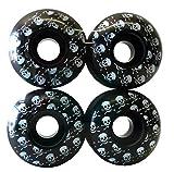 esKape 52mm Skateboard Wheels (Black Skull)