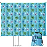 SONGMICS Beach Blanket Mat 74 x 57 Inches Green