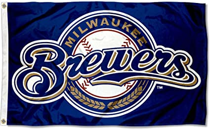 WinCraft Milwaukee Brewers Stars and Stripes Nation 3x5 Flag