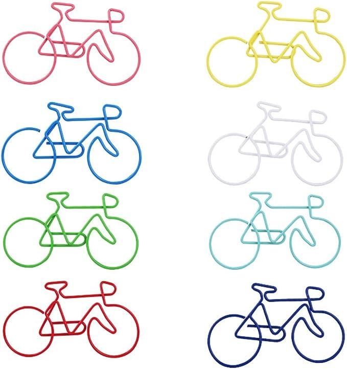 Burofin Clips de bicicleta Color Clips de papel de plástico de ...