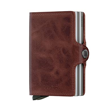 Secrid twin wallet leather brown credit card wallet with rfid secrid twin wallet leather brown credit card wallet with rfid protection with one colourmoves