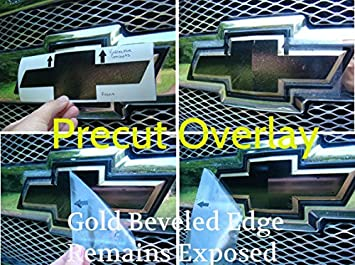 Amazoncom Bowtie Overlay Decals Front And Rear - Chevy silverado bowtie decal