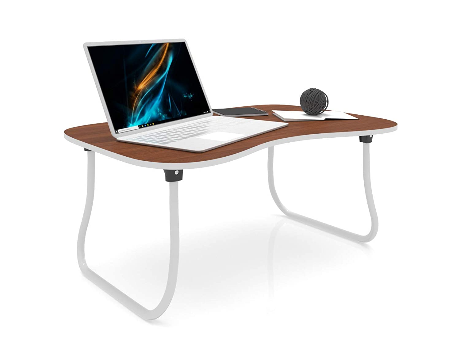 Forzza Zoey Laptop Table (Walnut) at Amazon ₹ 849.00