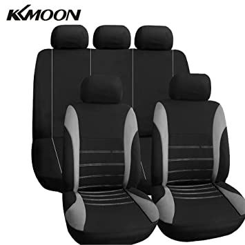 KKmoon Car Seat Cover Sets Universal Water Resistant Covers Full 9 Set Auto Interior Accessories