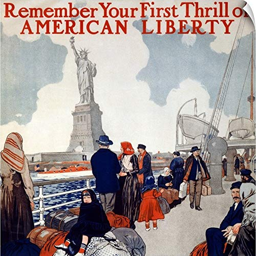 Poster Showing Immigrants on a Ship
