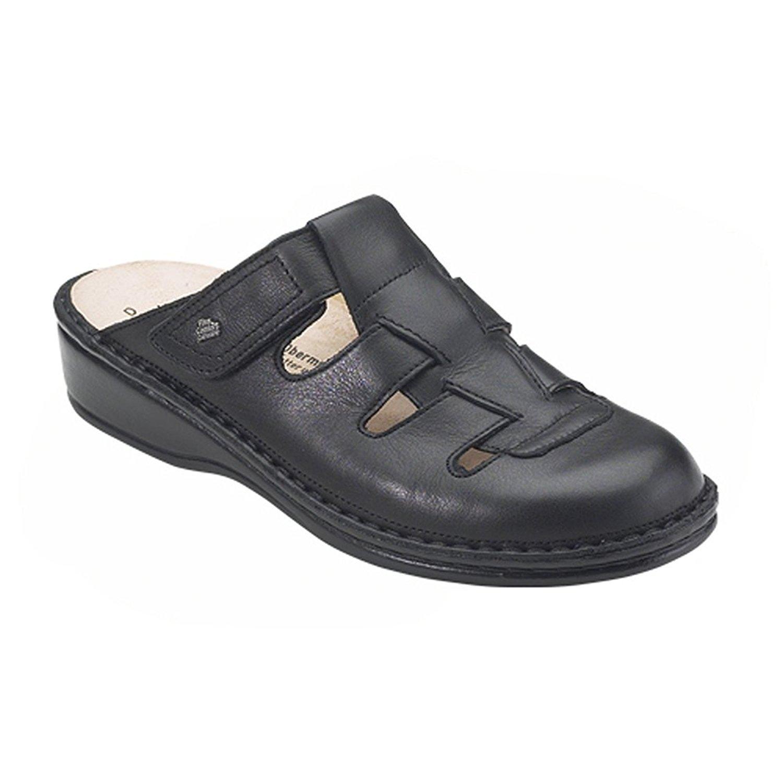 Finn Comfort Java Womens Mules & Clogs, Black Nappa, Size - 41